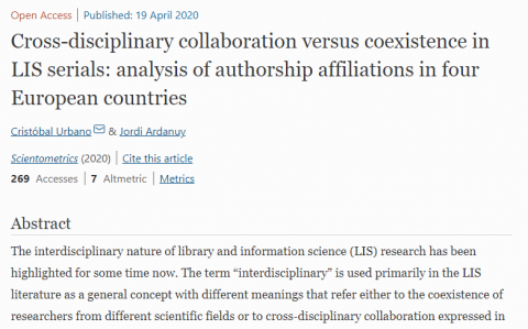 Cross-disciplinary collaboration