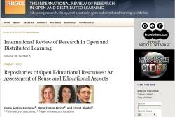 "Santos-Hermosa, G.; Ferran-Ferrer, N.; Abadal, E. (2017). ""Repositories of Open Educational Resources: An Assessment of Reuse and Educational Aspects"""