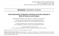 "Navas-Fernández, M.; Abadal, E.; Rodrigues, R. S. (2018). ""Internationality of Spanish scholarly journals indexed in Web of Science and Scopus"". Revista Española de Documentación Científica"